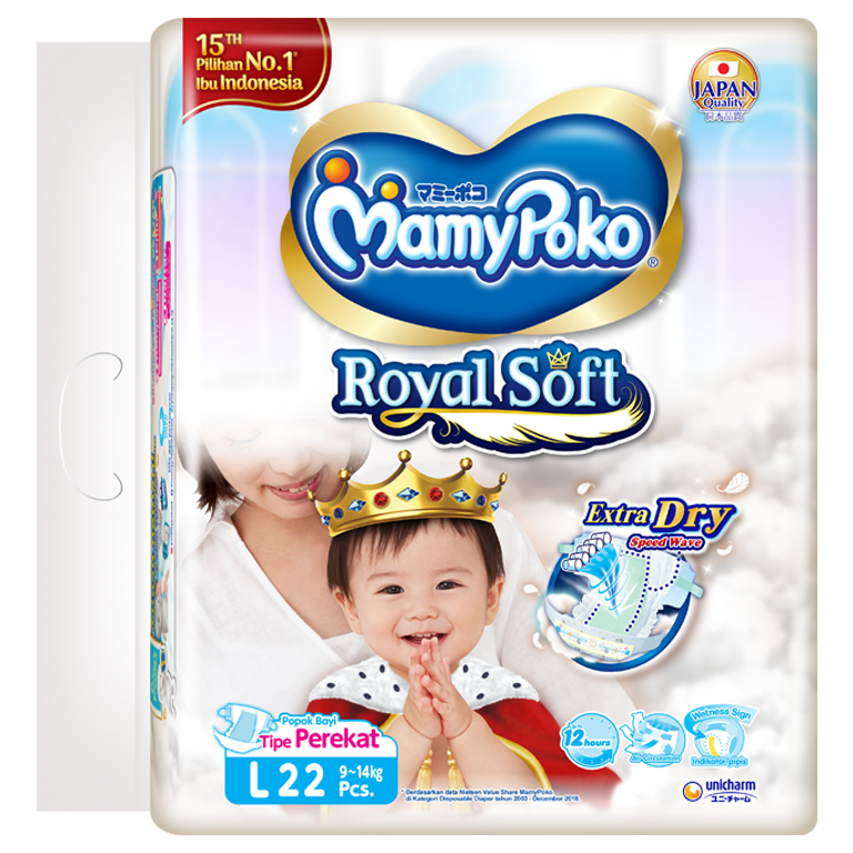 MamyPoko Royal Soft Tape (L Size)