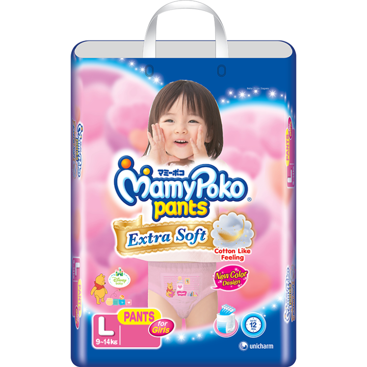 MamyPokoPants Extra Soft Ukuran L Girl