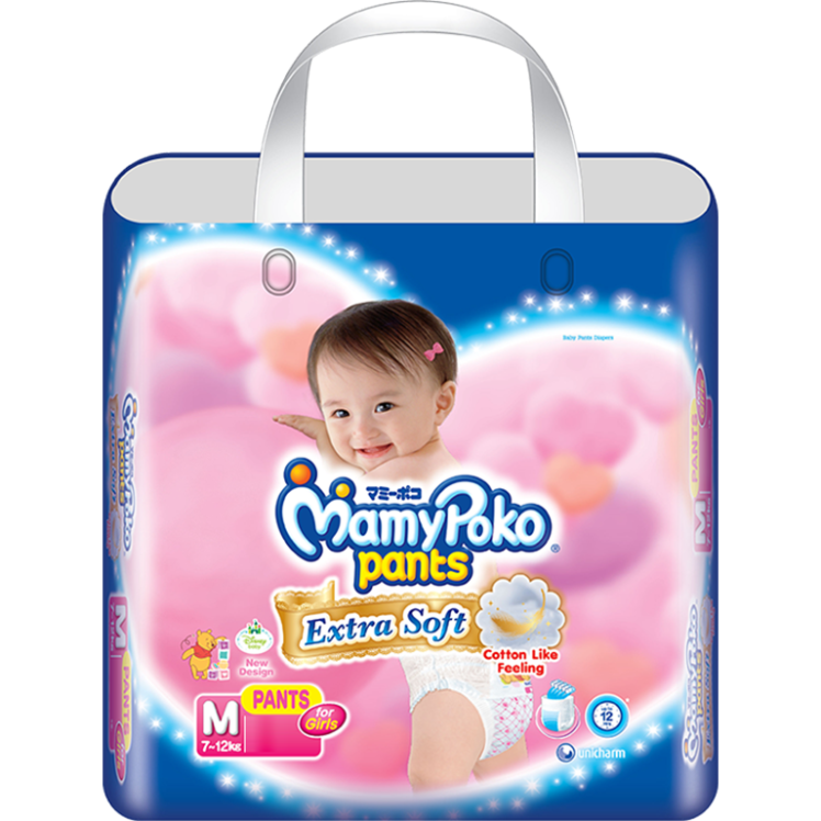 MamyPokoPants Extra Soft Ukuran M Girl