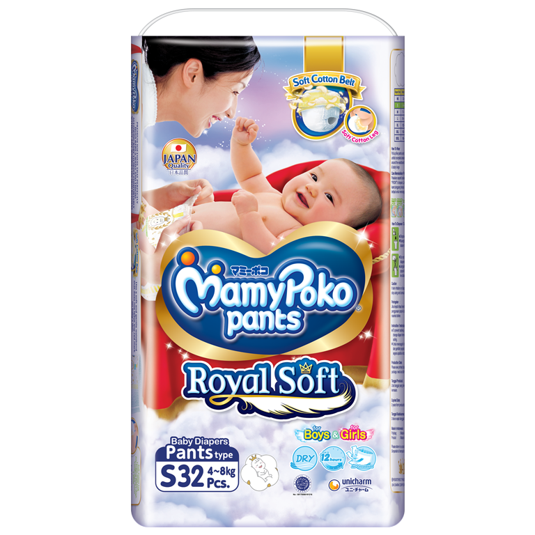 MamyPoko Pants Royal Soft NB
