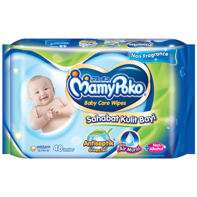 MamyPoko Baby Care Wipes Reguler Antiseptik Green Tea