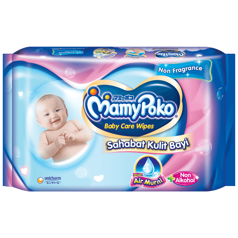 MamyPoko Baby Care Wipes Reguler Air Murni & Non alkohol